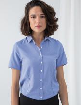 Ladies Gingham Cofrex Pufy Wicking Shortsleeve Shirt
