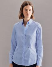 Womens Blouse Slim Fit Check/Stripes Longsleeve