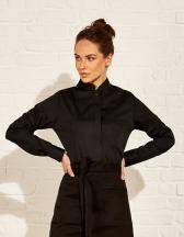 Women`s Bar Shirt Mandarin Collar Long Sleeve